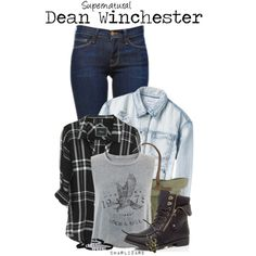 A fashion look from December 2015 by charlizard featuring Rails, RVCA, Frame Denim, Will Leather Goods, supernatural, DeanWinchester, spn and winchesters