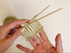 DROPS Knitting Tutorial: How to do twined knitting on Vimeo