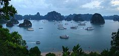 Hạ Long Bay is a UNESCO World Heritage Site, and a popular travel destination, in Quảng Ninh Province, Vietnam, and is on the list of New7Wonders of Nature chosen through a global poll.