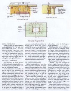 #2700 Precision Router Table Plans - Router