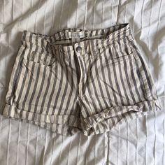 Cuffed Pinstripe Mini Shorts Very cute! Worn once H&M Shorts