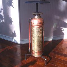 Vintage Fire Extinguisher Bar Stool