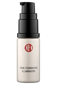 """""""This is Japanese liquid illuminator with a focus on skin care and HD quality finishes. Use it alone, over makeup, or mixed with your favorite foundation for a healthy all-over glow."""" Koh Gen Doh Aqua Foundation Illuminator, $39, available in stores at Kenig + Alcone."""