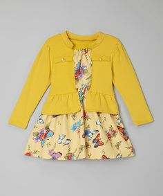 Take+a+look+at+the+Yellow+Butterfly+Dress+-+Toddler+&+Girls+on+#zulily+today!