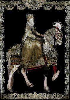 RENAISSANCE  Equestrian portrait of Marguerite de Valois