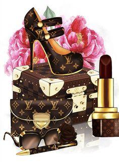Fashion Design Drawings, Fashion Sketches, Louis Vuitton Background, Louis Vuitton Iphone Wallpaper, Fashion Wall Art, Shopping Day, Mickey Mouse Clipart, Designs To Draw, Black Phone Wallpaper