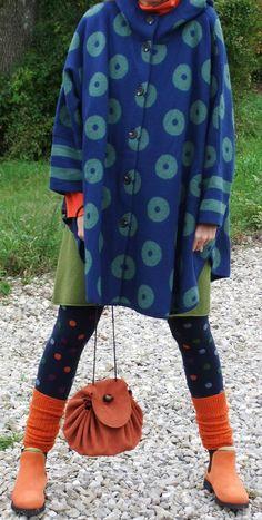 Gudrun Sjöden. I like the socks over the leggings.