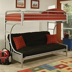 Acme Furniture 02091W-SI Eclipse Twin/Full/Futon Bunk Bed