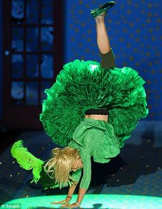 Betsey Johnson is known for doing a cartwheel down the runway after her fashion shows.  :-)