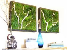 RR-16-05 Wall hangings with white wood accents in reclaimed wood frames