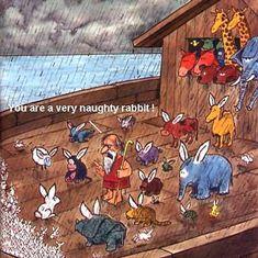 #Moses #Rabbit #Funny #Humour #Joke Funny Jokes, Funny Humour, Funny Animals, Rabbit, Bible, Painting, Art, Bunny, Biblia