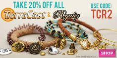 TierraCast & Regaliz Sale at www.beadaholique.com - Save 20% on cords and decorative components for #bracelets plus #MadeintheUSA metal beads, charms, clasps and more for #beading and #DIY #jewelry-making. Sale ends Monday.