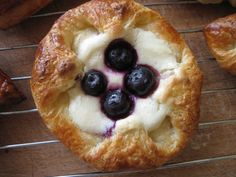 Breakfast Pastries  Crescent roll dough, cream cheese and fresh fruit...
