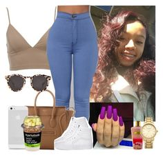 """"""""""" by melaninmonroee ❤ liked on Polyvore featuring Victoria's Secret, CÉLINE, Topshop, AT&T and Illesteva"""
