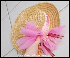 DIY A Straw Boater Hat