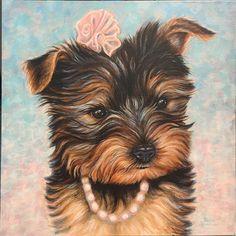 Teacup Yorkie- Bailey painting