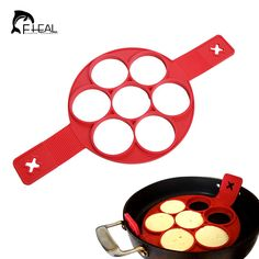 FHEAL Top Quality Nonstick Egg & Pancake Rings Kitchen Tools Egg Poachers Pastry Mold Cooking Accessories Egg Tool For Microwave