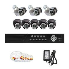 "Complete 8 Channel CCTV DVR (2T HDD) Surveillance Video System Package with (8) x 520 TV Lines 1/3"" SONY CCD Outdoor and Aluminum Indoor Dome Security Camera by Gw. $953.00. Package Includes: GW2548SV-N DVR with 2T HDD; Remote Control and mouse; 3 x GW630A -1/3"" SONY CCD Outdoor Camera; 5 x GW726B -1/3"" SONY CCD Indoor Camera; 2 x GW125CAW: 125 feet pre-made cable BNC; 2 x GW100CAW: 100 feet pre-made cable BNC; 4 x GW60CAW: 60 feet pre-made cable BNC; 1 x 12V5..."