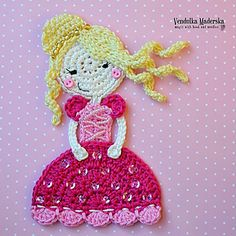 Little princess applique for little princess in my lfe :-) It could embellished e.g. sweater, jeans, T-shirt, bag, purse or pillow … It depends on you :-)