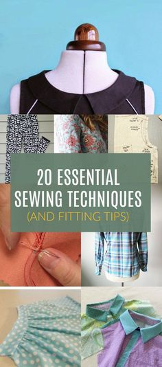 ROUNDUP: 20 Essential Sewing Techniques. Learn how to sew with professional finishing and great fitting with this 20 sewing tutorials and sewing techniques