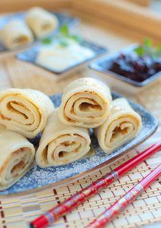 Chińskie naleśniki dwuwarstwowe – Hui two-layer crepes Icing, Layers, Cheese, Dinner, Pierogi, Hui, Food, Layering, Dining