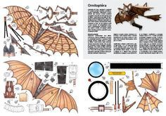 Leonardo Da Vinci`s Ornithopter Paper Model - by Rozhlas          Leonardo Da Vinci's fascination with machines began when he was merely a boy. His earliest sketches depict the inner workings of various machines from his era.