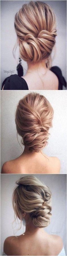 12 So Pretty Updo Wedding Hairstyles from TonyaPushkareva, Peinados, elegant updo wedding hairstyles Elegant Wedding Hair, Elegant Updo, Wedding Hair And Makeup, Wedding Updo, Hair Makeup, Trendy Wedding, Wedding Beach, Wedding Nails, Wedding Ideas