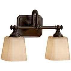"Feiss Concord 2-Light 14"" Wide Bronze Wall Sconce"