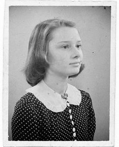 A young, Audrey Hepburn