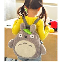 This Totoro backpack is more than just a bag, it's a super-adorable fluffy and soft plushie backpack that you'll love to bring around wherever you go! Ideal for school and daily regular usage. Perfect