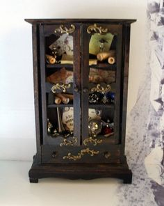 Gothic Witch spell hutch dollhouse miniature hutch ooak