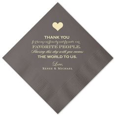 100 Personalized Napkins Wedding Napkins by MemorableWedding
