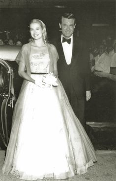 Grace Kelly and Cary Grant at the premiere of To Catch A Thief in Philadelphia, 1955