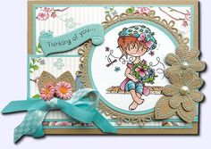 COL1324 die from Marianne Design and such a cute little Snoesjes stamped image
