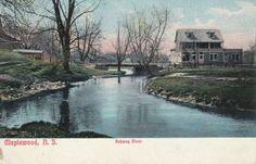 Maplewood-NJ-Essex-County-Rahway-River-Bridge-Scene-Postcard-N-J