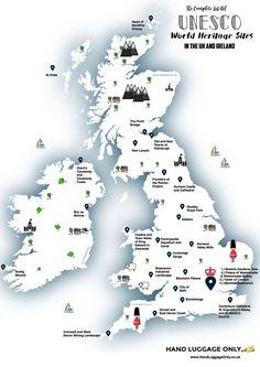 United Kingdom of Great Britain and Northern Ireland - UNESCO World Heritage Centre Scotland Travel, Ireland Travel, Ireland Map, Ireland Food, Scotland Vacation, Scotland Trip, European Destination, European Travel, British Travel
