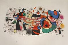 JOAN MIRO (1893-1983, Spain/France) STONE LITHOGRAPH ON WATERMARKED PAPER -