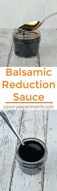 How to make a balsamic reduction sauce just like the restaurants! Tastes like 15 year aged balsamic, but cheap and made in 15 minutes with only 3 ingredients. www.savoryexperiments.com