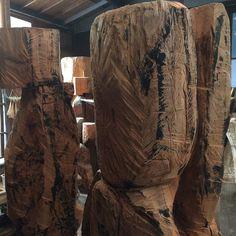 新木彫群像は、「鏡群像」に決定。Kagami gunzo / Ryosuke Yazaki 2015 katsura tonoko gofun wax