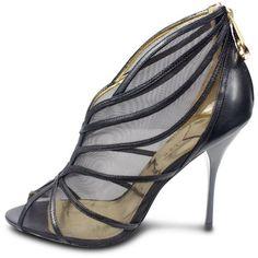 <3  <3  Lusting.  Ted Baker Black Mesh Xene High Heel, found on polyvore.com