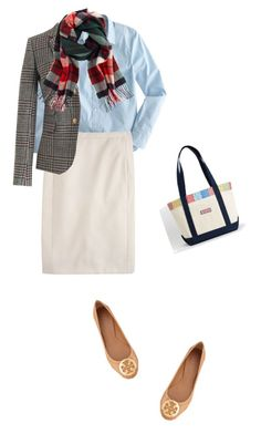 """Fall Ready"" by dauchka22 ❤ liked on Polyvore featuring J.Crew, Tory Burch, women's clothing, women's fashion, women, female, woman, misses and juniors"