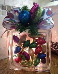 Glass block decoration