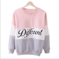 Casual pullover long sleeve Casual pullover , warn , pink -white-grey colors. One size . I'm 125lb and 5feet4inch and fit me perfect (check last foto ) . Feel free to ask for other foto or info or misuration. Is new in plastic bag. Thank you and happy shopping !!! Sweaters
