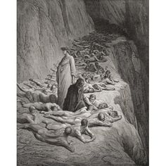 Illustration For Purgatorio By Dante Alighieri Canto Xix Lines 131 To 133 By Gustave Dore 1832-1883 French Artist And Illustrator Canvas Art - Ken Welsh Design Pics (26 x 32)