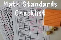 Common Core Math Standards Checklists for Each Grade Level K - 5: Great for conferences, RIT, and data tracking