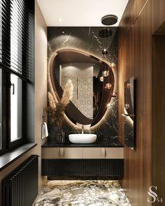 Small Bathroom Interior, Bathroom Design Luxury, Modern Bathroom, Modern Mirrors, Budget Bathroom, Bathroom Small, Luxury Rooms, Luxury Apartments, New Interior Design