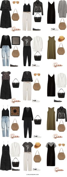 Packing Light: 45 10 days in Spain, Portugal and Denmark in Juny/ July. What to wear: Outfit Options 2. Summer Travel Capsule Wardrobe 2018
