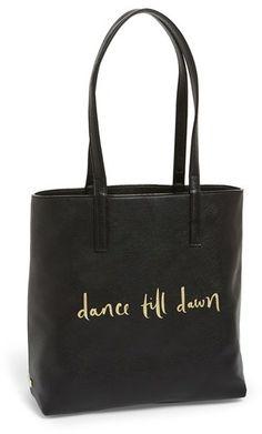 Kate Spade New York Idiom Tote #katespade #idiom #spade #dance #tote #gold #black #chic #sale