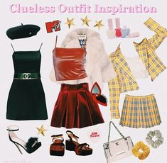 outfit inspiration - Mood boards -clueless outfit inspiration - Mood boards - Image of Ready To Post - Cher Blazer & As If Skirt (pleated version) style! IM NOT DEAD Cher from Clueless inspired costume for Halloween How to Rock Inspired Siena Fest Outfits Clueless Outfits, Clueless Fashion, 2000s Fashion, Clueless Style, Cher Clueless Costume, Throwback Outfits, Clueless 1995, Mode Outfits, Trendy Outfits