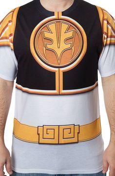 White Ranger Sublimation Costume Shirt